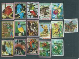 Equatorial Guinea 1974 Onward Flora & Fauna Group Of 60 Different FU - Postzegels