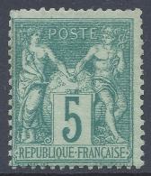 FRANCE 1876 SAGE 5c GREEN Nº 64 - 1876-1878 Sage (Type I)