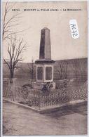 MONNET-LA-VILLE- LE MONUMENT AUX MORTS - Francia