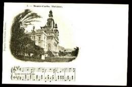 MONTE-CARLO, Théatre - 4 - (Beau Plan Avec Kiosque à Musique) - CP Pionnière, Vers 1900. - Opéra & Théâtre