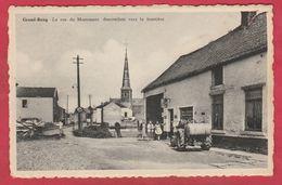 Grand-Reng - La Rue Du Monument Vers La Frontière ... Ancien Tracteur  ( Voir Verso ) - Erquelinnes