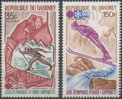 //// JO 1972 - DAHOMEY - Yvert : 311 / A 156** - Michel : 470 / 471** - Hiver 1972: Sapporo