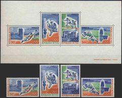 //// JO 1972 - MALI - Yvert : A 147 / 150** + BF 6** - Michel : 316 / 319** + Block 6** - Ete 1972: Munich