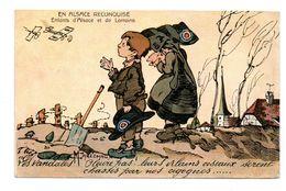 EN ALSACE RECONQUISE . ENFANT D'ALSACE ET DE LORRAINE . ILLUSTRATION MARECHAUX . PARIOTIQUE - Réf. N°7200 - - Alsace