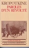 Pierre Kropotkine -Paroles D'un Révolté -anarchisme - Politik