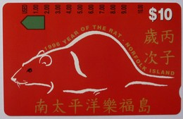 NORFOLK ISLAND - Tamura - $10 - 1996 Year Of The Rat - Mint - Norfolk Eiland
