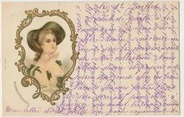 Art Card Marquise De Pompadour Duchesse De Menars Jeanne Antoinette Poisson Timbrée Sollies Pont  Var 1900 - Femmes Célèbres