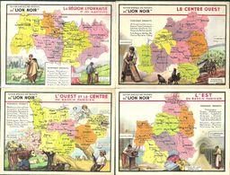 W054 - CARTES LION NOIR - CARTE DE FRANCE - DEPARTEMENTS - Autres
