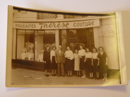 VOSGES-EPINAL-CARTE PHOTO MAGASIN NOUVEAUTES THERESE COUTURE RUE RAYMONS POINCARE-ANIMEE - Epinal