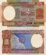 INDIA       2 Rupees       P-79k        ND (ca. 1985)        UNC  [staple Holes] - India