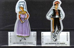 G212 - 2 IMAGES THERMOFORMEES - FERMIERS REUNIS - CATALOGNE ISIGNY - Autres
