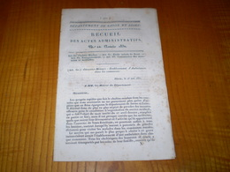 Mâcon 1832:Choléra Morbus,maisons Hospices Ou Ambulance.Ecole Navale De Brest.Renseignements Sur Individus Condamnés - Historical Documents