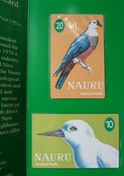 NAURU - 1st Phonecard Set Of 2 - ComCard Pacific - $10 & $20 - White Tern & Micronesian Pigeon - Mint In Folder - Nauru