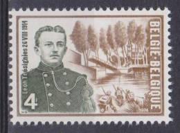 """Belgique N° 1726 ** Caporal Léon Trésignies Et Vue Du Lieu Dit """"Pont Brûlé"""" à Vilvorde - 1974 - Unused Stamps"""