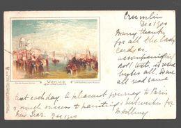 Venezia - Venice After J.M.W. Turner RA - 1900 - Single Back - Venezia