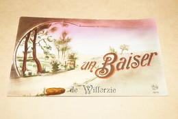 RARE,très Belle Carte Ancienne De Willerzie,un Baiser De ,belle Oblitération De 1934 - Gedinne
