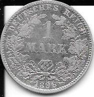1 Mark 1896 J - Germany - ALLEMAGNE - Deutsches Reich TB - [ 2] 1871-1918: Deutsches Kaiserreich