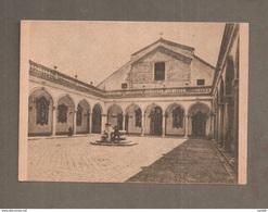 ABBAZIA MONTECASSINO CORTILE INTERNO DISTRUTTO DALL'AVIAZIONE ANGLO-AMERICANA 1944 - CARTOLINA NON VIAGGIATA - Italy