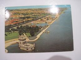 CPSM PORTUGAL LISBOA Tour De Belem Monastère Des Jeronimos Et Monument Des Découvertes 1971 T.B.E. - Lisboa