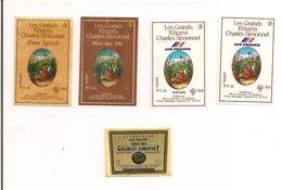 Etiquettes Mignonnettes Simonnet:  Rhum Et Shrubb Air France,agricole, Vieux 1980 Et Vieux Agricole 1975 - GUADELOUPE - - Rhum