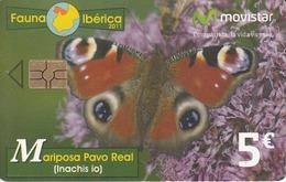 SPAIN - Fauna Iberica - Mariposa Pavo Real , Tirage 1000010, 07/11, Used - Spain