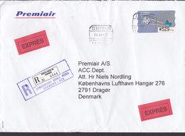 Spain PREMIAIR EXPRÉS Label Registered Certificado Label AEROPUERTO Reina Sofia TENERIFE 1997 Cover Letra ATM / Frama - Poststempel - Freistempel