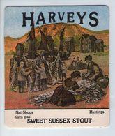 UNUSED BEERMAT - HARVEYS BREWERY (LEWES, ENGLAND) - SWEET SUSSEX STOUT - (Cat 012) - (1985) - Portavasos