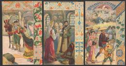 CHROMOS CALENDRIER Découpés 1901 - Exposition Universelle Paris 1900- 98x60 Mm - Chromos