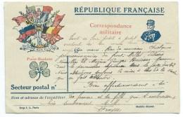 CARTE POSTALE / CORRESPONDANCE MILITAIRE / FRANCHISE /  1917 - Postmark Collection (Covers)