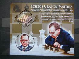 A.Alekhine Chess. Schach. Echecs # 2010 MNH S/s # Games. Sport - Schaken