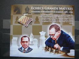 A.Alekhine Chess. Schach. Echecs # 2010 MNH S/s Imperf. # Games. Sport - Schaken
