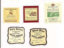 Etiquettes Mignonnettes Marie Galante: Bois Bandé, Rhum Vieux Et Agricole Bielle Et Bellevue - GUADELOUPE - - Rhum
