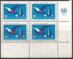 UN New York - 1974 Airmail 26c Corner Block Of 4 MNH **   Sc C21 - New York -  VN Hauptquartier