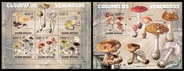 GUINEA BISSAU 2009 - Poisonous Mushrooms - YT 2976-80 + BF454 - Toxic Plants