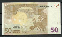 ESTONIA 50 EURO 2002 D-Serie Banknote RO51D5 - 50 Euro
