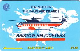 Falkland Islands Bristow Helicopters - Fine Used - Falkland Islands