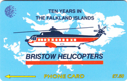 Falkland Islands  Phonecard  Bristow Helicopters - Fine Used - Falkland Islands