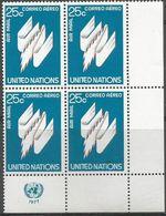 UN New York - 1976 Airmail 25c Corner Block Of 4 MNH **   Sc C22 - New York -  VN Hauptquartier