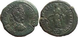 [H] +++ AE27 -- Elagabal / Magistrate Seleukos -- Markianopolis -- Tyche With Patera And Cornucopiae++ - Römische Münzen