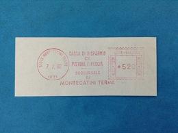 1980 ITALIA AFFRANCATURA MECCANICA ROSSA EMA RED - CASSA DI RISPARMIO DI PISTOIA E PESCIA SUCCURSALE MONTECATINI TERME - Affrancature Meccaniche Rosse (EMA)