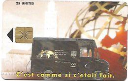 @+ Maroc - UPS 25U - AVE - Puce Gem1A Rouge - Ref : AVE-25a - Maroc