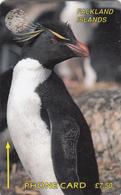 Falkland Islands  Phonecard  -Macaroni Penguin - Fine Used - Falkland Islands