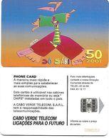 @+ Cap Vert - So Sabi  (2001) - Verso Numero Rouge - Ref : CPV-24 - Kapverden