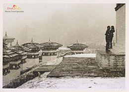 Postcard Bhutan Dochula Pass Winter Snow - Bhutan