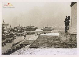 Postcard Drukair Bhutan Dochula Pass Winter Snow - 1946-....: Modern Era