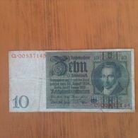 Allemagne.Billet 10 Reichsmark - [ 4] 1933-1945 : Third Reich