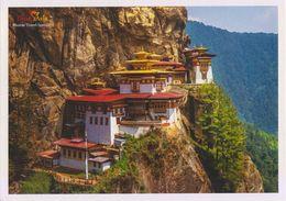 Postcard Drukair Bhutan  Paro Taktsang Tiger Nest Monastery - 1946-....: Ere Moderne