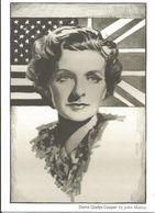 Actrice, Dame Gladys Cooper - Dessin - Actress, Design By John Mattos - The Colony, Jimmy's Bar, London - Drapeau - Flag - Schauspieler