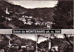MONTENARS-UDINE-SALUTI MULTIVEDUTE(3 IMMAGINI)CARTOLINA VERA FOTOGRAFIA-VIAGGIATA IL 26-8-1967 - Udine