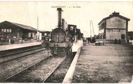 CPA N°19692 - MALESTROIT - LA GARE - BOUT DE COIN MANQUANT EN BAS A DROITE - Malestroit